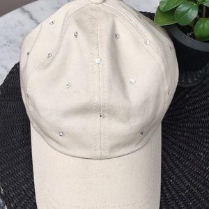 Accessories - NWOT Swarovski crystal studded ball cap